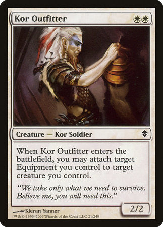 Kor Outfitter [Zendikar] | The Game Center - Gametraders Macarthur Square