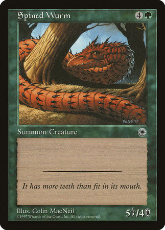 Spined Wurm [Portal] | Gametraders Macarthur Square