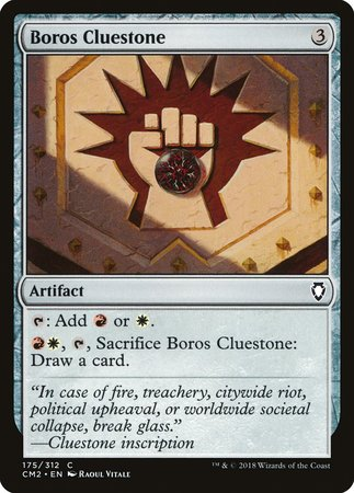 Boros Cluestone [Commander Anthology Volume II] | Gametraders Macarthur Square