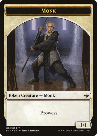 Monk Token [Fate Reforged Tokens] | Gametraders Macarthur Square