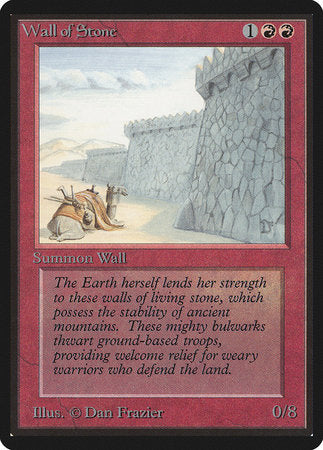 Wall of Stone [Limited Edition Beta] | Gametraders Macarthur Square