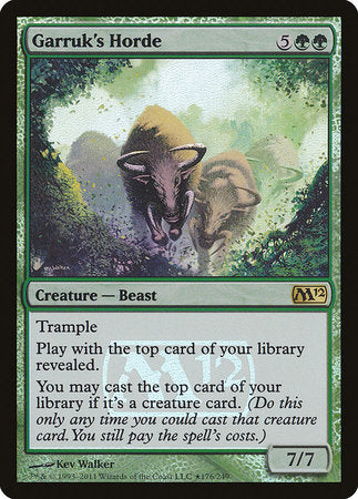 Garruk's Horde [Magic 2012 Promos] | Gametraders Macarthur Square