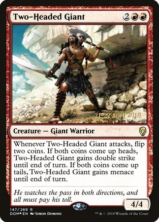 Two-Headed Giant [Dominaria Promos] | The Game Center - Gametraders Macarthur Square