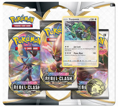 POKÉMON TCG Sword and Shield- Rebel Clash Three Booster Blister | The Game Center - Gametraders Macarthur Square