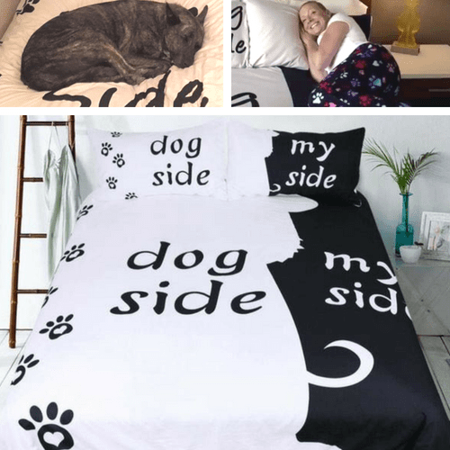 Dog Side My Side Bedding Sets - Duvet Cover and 2 Pillowcases