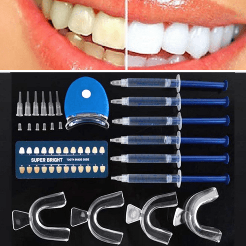 #1 Teeth Whitening Home Kit - Professional Grade - 6 Pieces Set