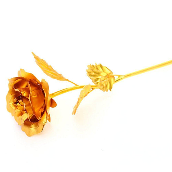 NEW 24k Gold Foil Rose With Box