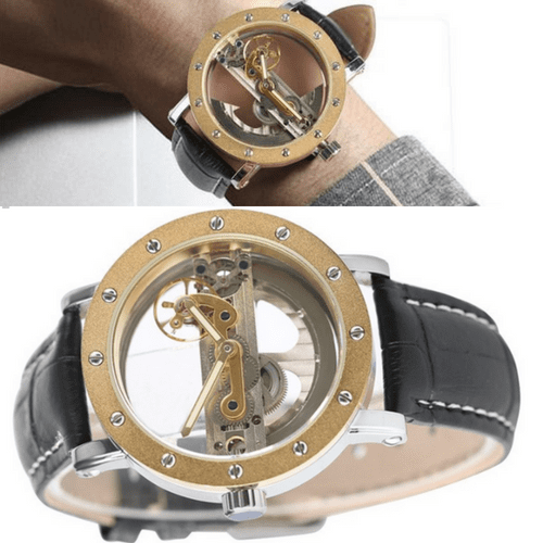 #1 Mechanical Watch - Transparent Skeleton Self Winding Watch