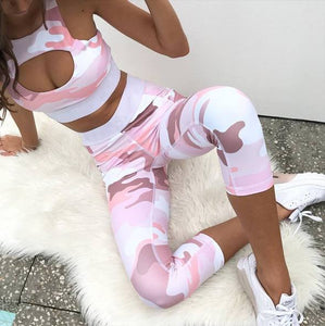 Pink Camo Set - Leggings + Top
