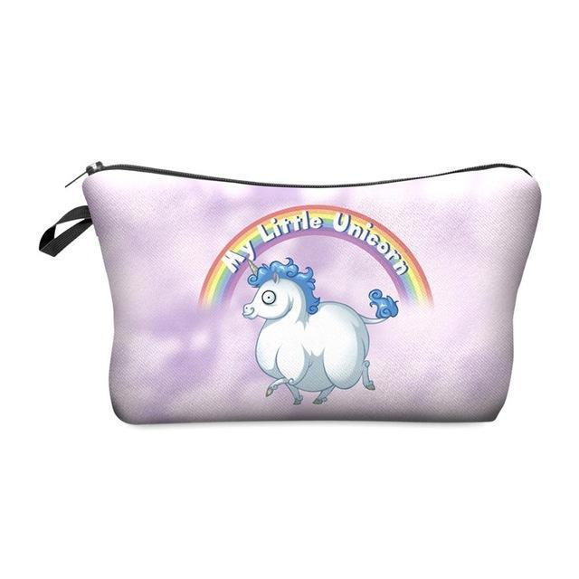 Travel Makeup Bag - Cosmetic Case - My Little Unicorn