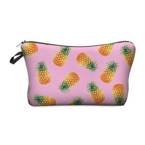 Travel Makeup Bag - Cosmetic Case - Pineapple Pink