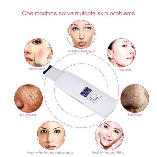 Ultrasonic Face Peeling Extractor Facial Skin Scrubber