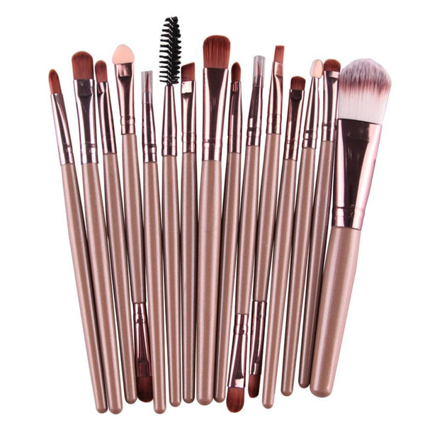 Makeup Brushes - 15 Pcs Professional Multi Makeup Brush Set