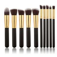 Makeup Brushes - 10 Pcs Synthetic Kabuki Makeup Brush Set