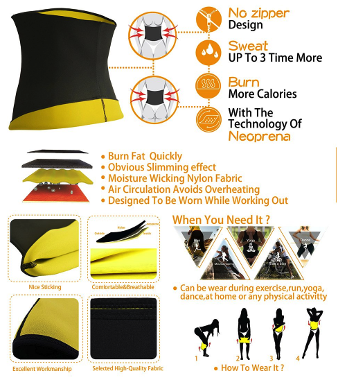 Thermo Sweat Neoprene Shapers Slimming Belt