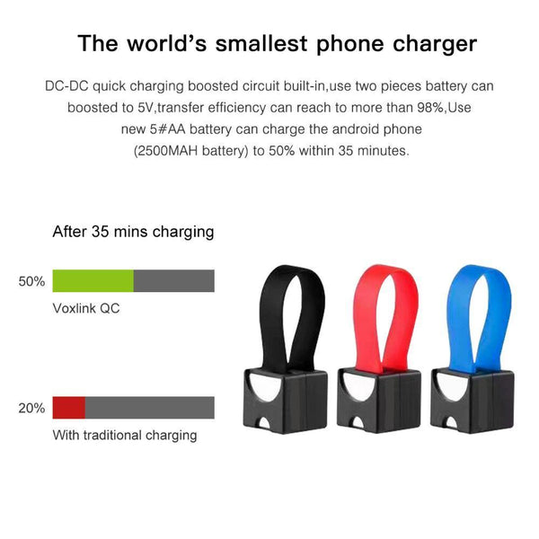 AA Battery Emergency Cellphone Charger