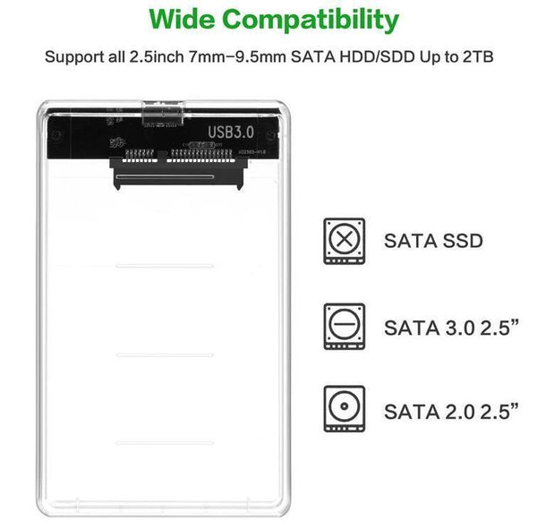 SATA HDD/SSD Case - Converts Old Hard Drive into External HDD