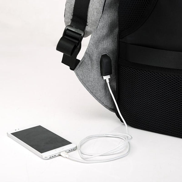TravelSafe Anti-Theft Backpack With USB Charger