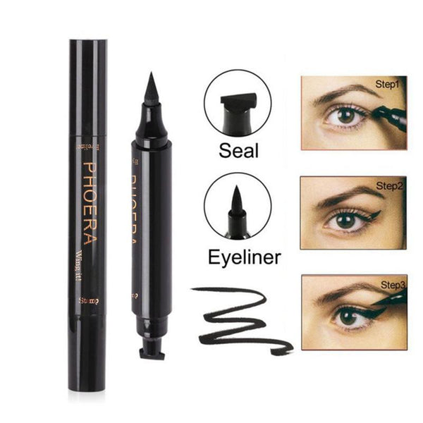 Set of 2 Eyeliners + Wing Stamp (Combodeal: Thick & Thin stamp)