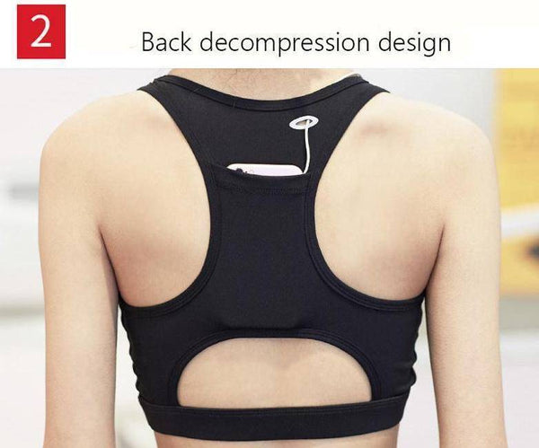 Sports Bra with Back Pocket