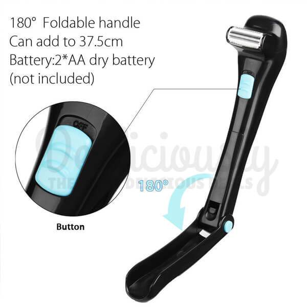 DorsalBlade™ - 180° Foldable DIY Electric Back Shaver