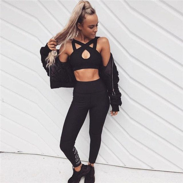 Criss-Cross Set - Leggings + Top