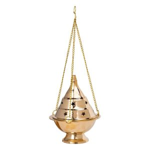 19cm Brass Hanging Charcoal Burner
