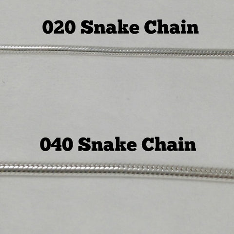 Sterling Silver Snake Chain 040