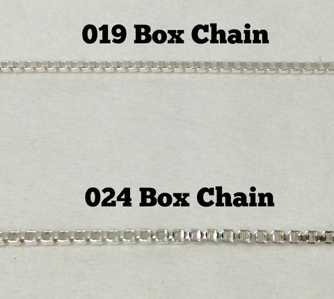 Sterling Silver Box Chain 019