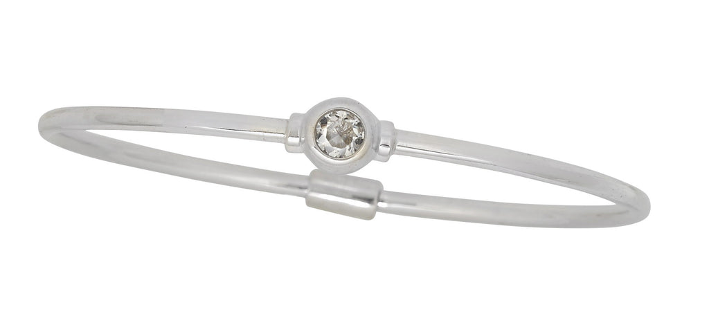 Sterling Silver Birthstone Bracelet (April)