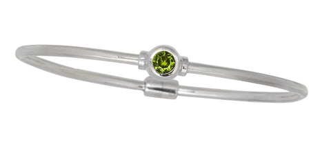 Cape Cod Birthstone Bracelet in Sterling Silver (August)