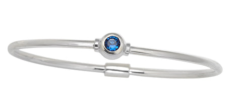Cape Cod Birthstone Bracelet (September) in Sterling Silver