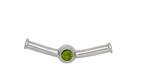 Sterling Silver Cape Cod Birthstone Slide For Necklace (August)