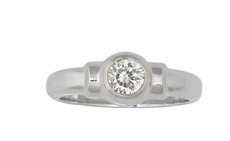 Sterling Silver Cape Cod Birthstone Ring (April)