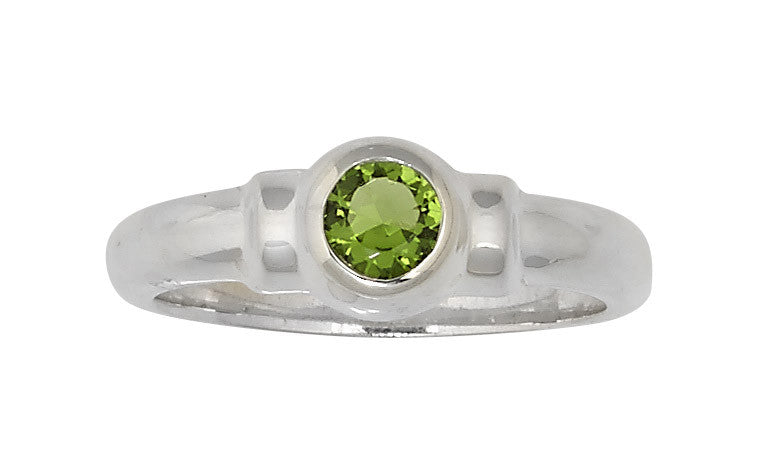 Sterling Silver Cape Cod Birthstone Ring (August)