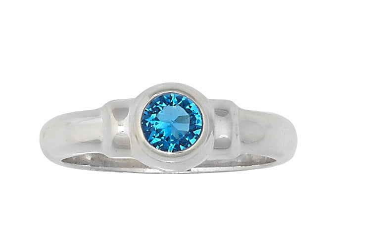 Sterling Silver Cape Cod Birthstone Ring (December)