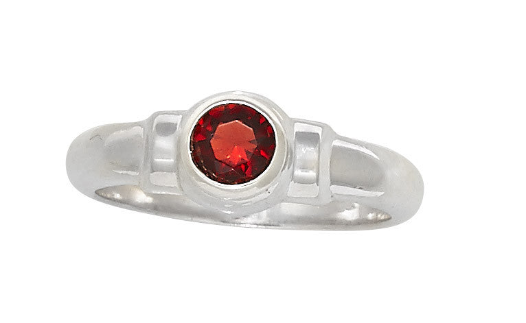 Sterling Silver Cape Cod Birthstone Ring (January)