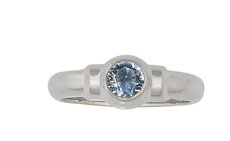 Sterling Silver Cape Cod Birthstone Ring (March)
