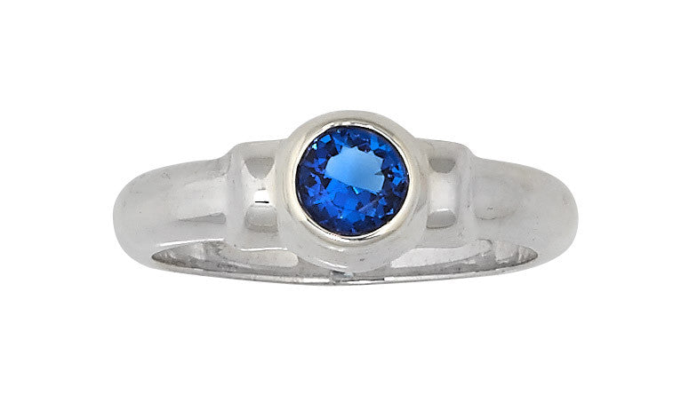 Sterling Silver Cape Cod Birthstone Ring (September)