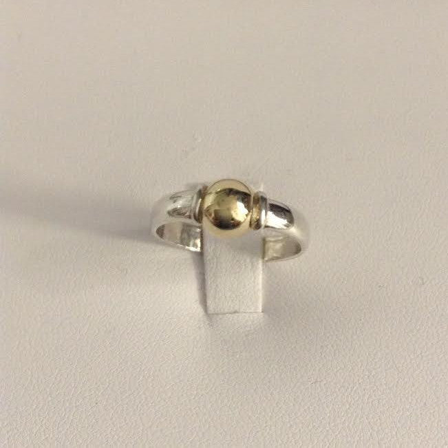 Cape Cod Ring Sterling Silver and 14K Gold Ring