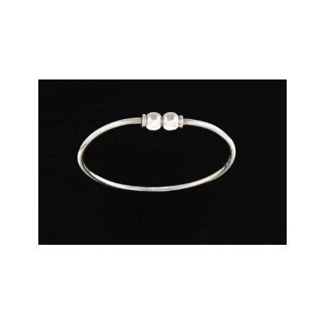 Sterling Silver Double Ball Cape Cod Bracelet