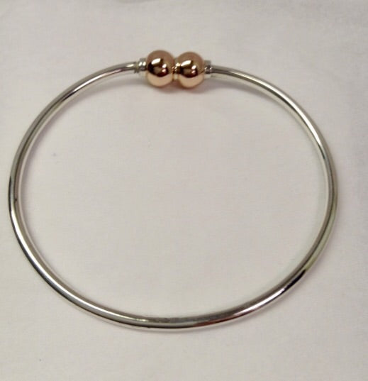 The Bracelet Double Ball - 14K Rose Gold