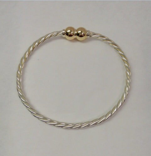 Cape Cod Bracelet -14k Yellow Double Ball Twist T.T.