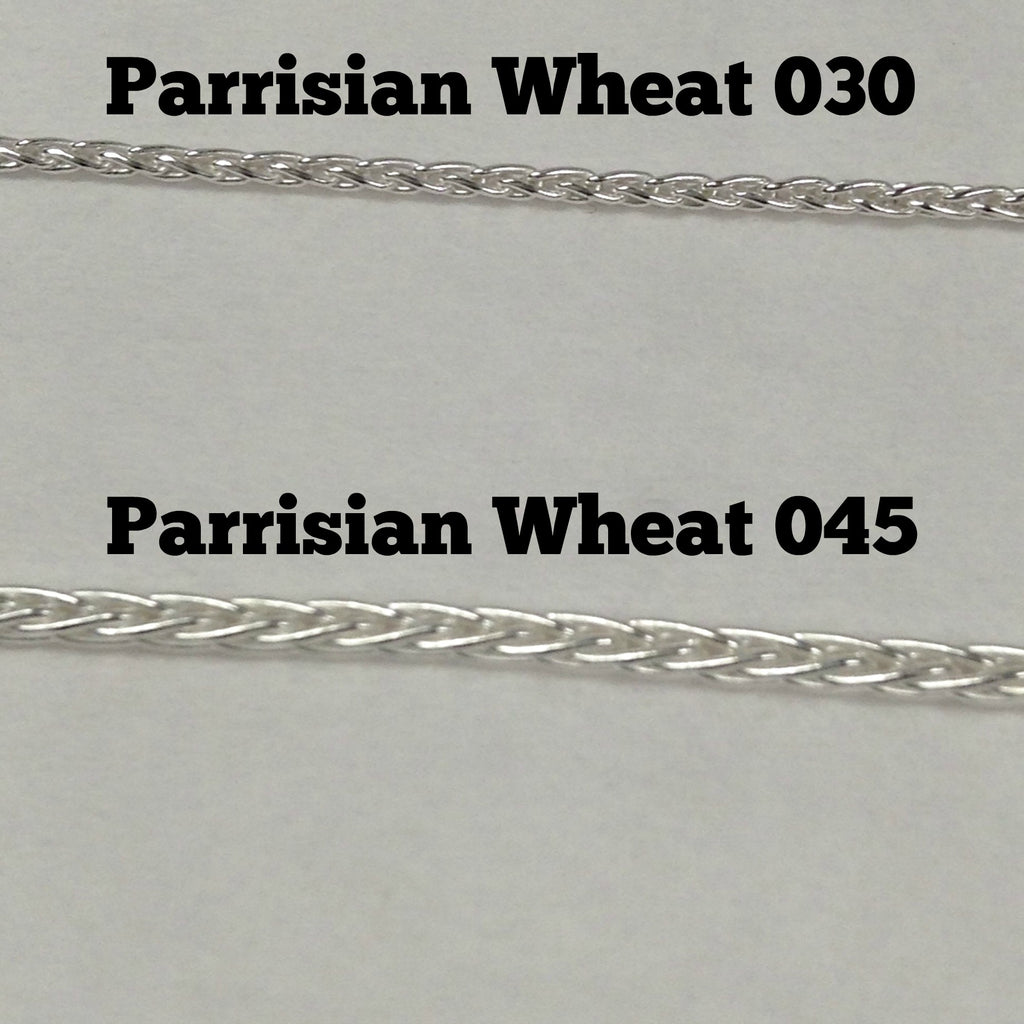 Sterling Silver Parrisian Wheat Chain 030