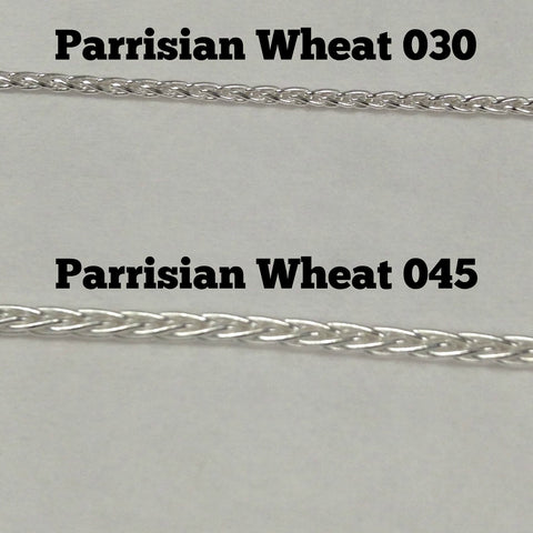 Sterling Silver Parrisian Wheat 045
