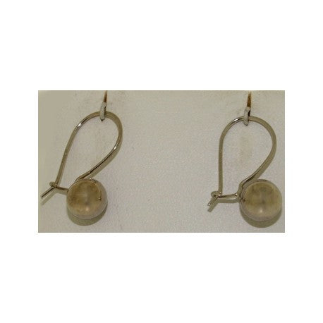14K Gold Single Ball Kidney Wire Earrings