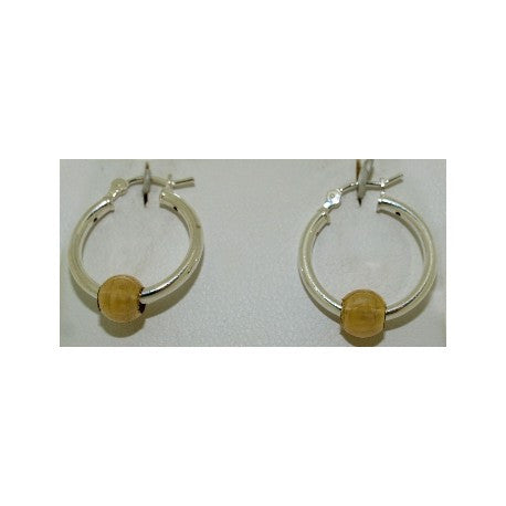 Classic Cape Cod Earrings Sterling Silver with a 14k Gold Ball (Small)