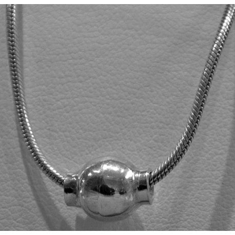 Sterling Silver Cape Cod Single Bead Necklace