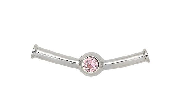 Sterling Silver Cape Cod Birthstone Slide For Necklace (October)