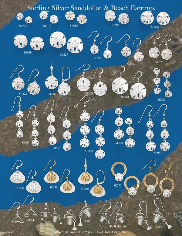 Sterling Silver Sand Dollar and Beach Charms